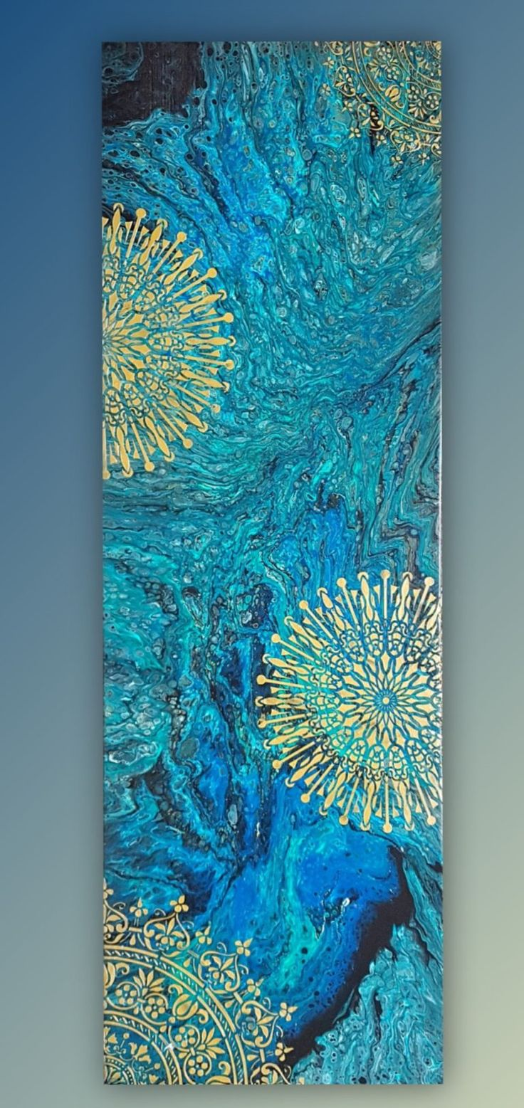 Using Stencil For Acrylic Pouring Is An Easy Effective
