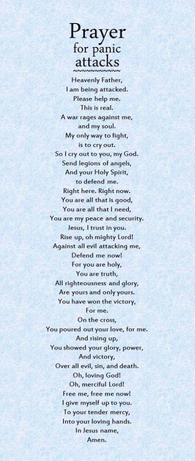 Prayer for panic attacks | Prayer #PanicAttackTreatment #PanicAttackQuotes
