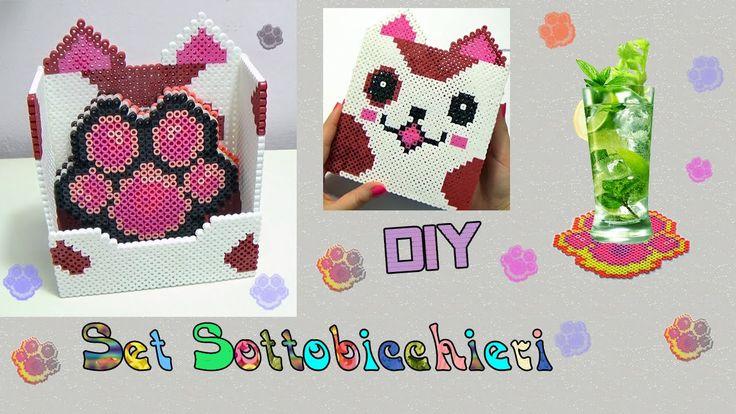 Diy Set Sottobicchieri con Hama Beads/Perler Beads Coasters Tutorial !