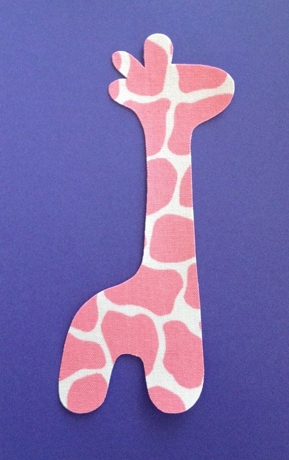 Iron-On Pink Giraffe Applique