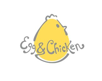 Growing up around agriculture, I love this logo! Eggs and chickens, as the same thing! Such a cute shape for the chicken which is obviously an egg! The colors also compliment each other while the words fade into the outline of the bird. Simply love the concept and it is really a cute design!