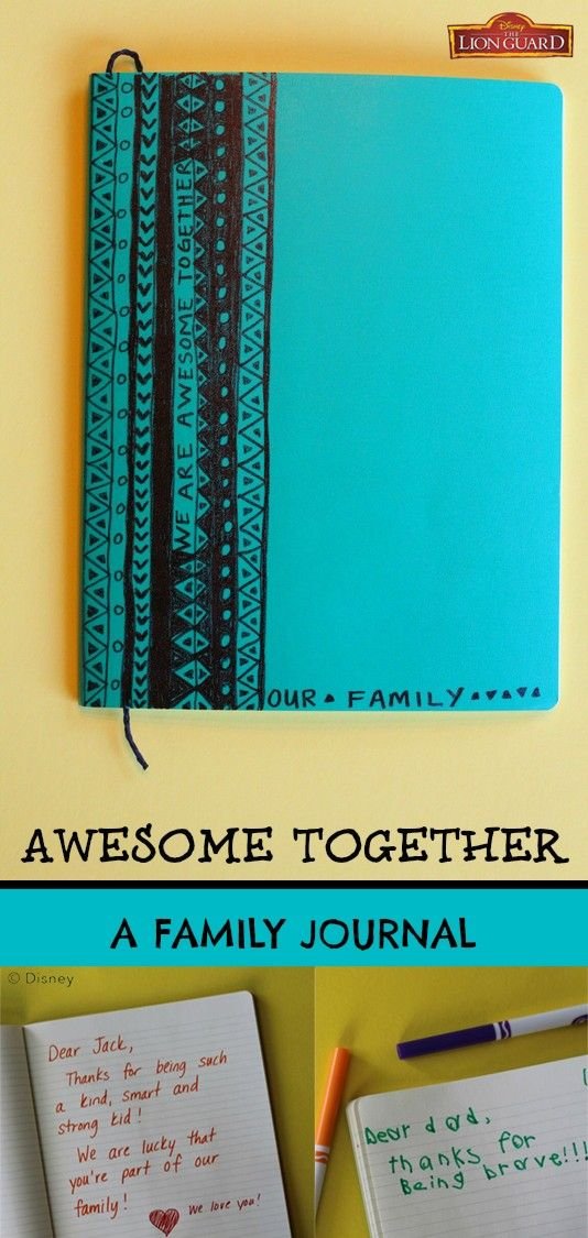 Celebrate the unique qualities of your awesome family members with an Awesome Together Family Journal, inspired by Disney Junior's The Lion Guard. Store it some place handy so all family members can write little notes to one another when they spot someone displaying their special talents. Over time, it will become a treasured family keepsake! Catch The Lion Guard every Friday at 9:30am on Disney Channel, starting January 15, 2016!