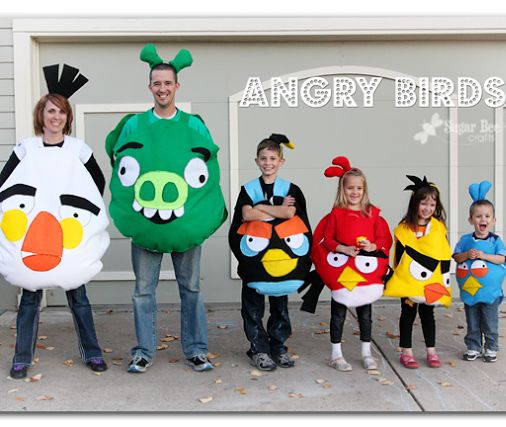 family costume idea - angry birds!  these are DIY!