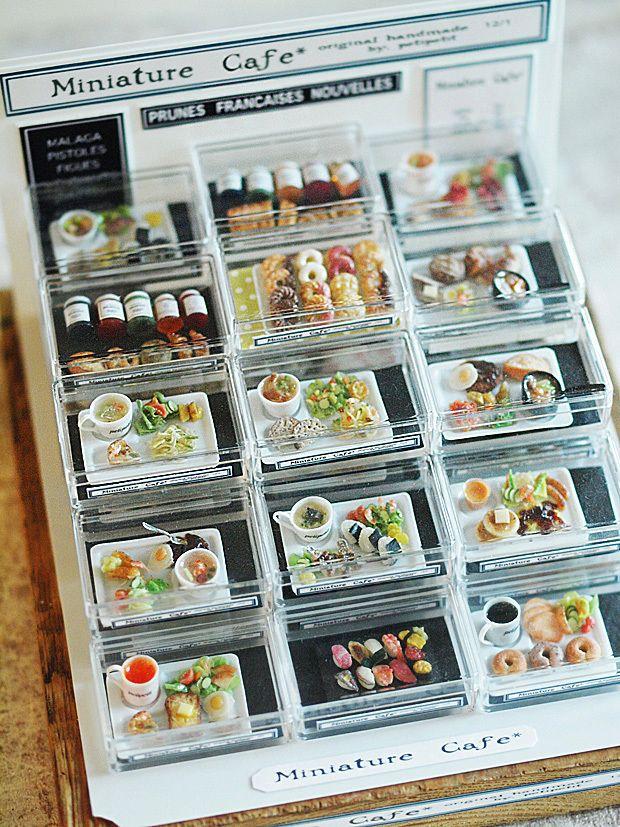 今まで作ってきた食品をコーナーにまとめてみました。そのうち小さな食品ハウスを作りたいと考えています。こちらは先日作ったミニチュアキャンドル。全9種類。ケー...