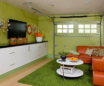 Garage Makeover - our decor would look nothing like this but cool idea