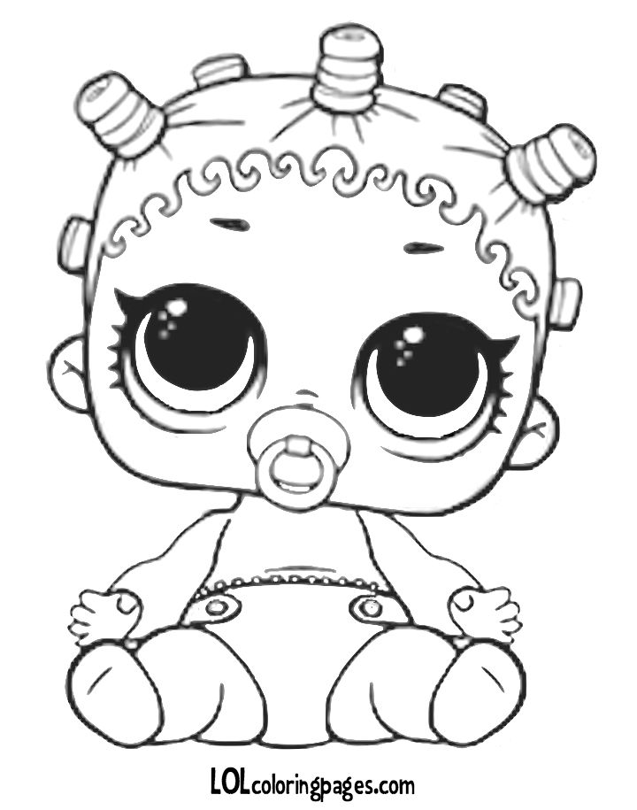 Lol Doll Coloring Pages Little Sisters Novocom Top