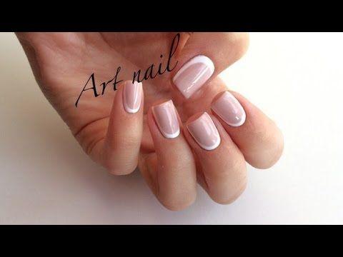 Лунный Маникюр! Обратный Французский Маникюр! Дизайн Ногтей! Nail Art Designs - YouTube