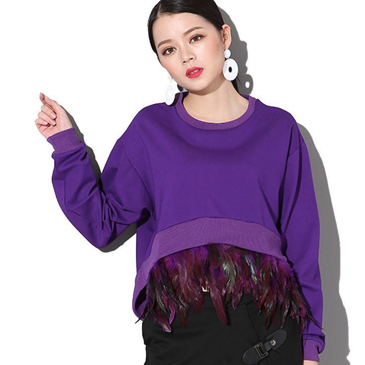 sooonyour 2017 feather stitching detachable Short front long back long-sleeved red sweatshirt  women fashion wholesale  74514