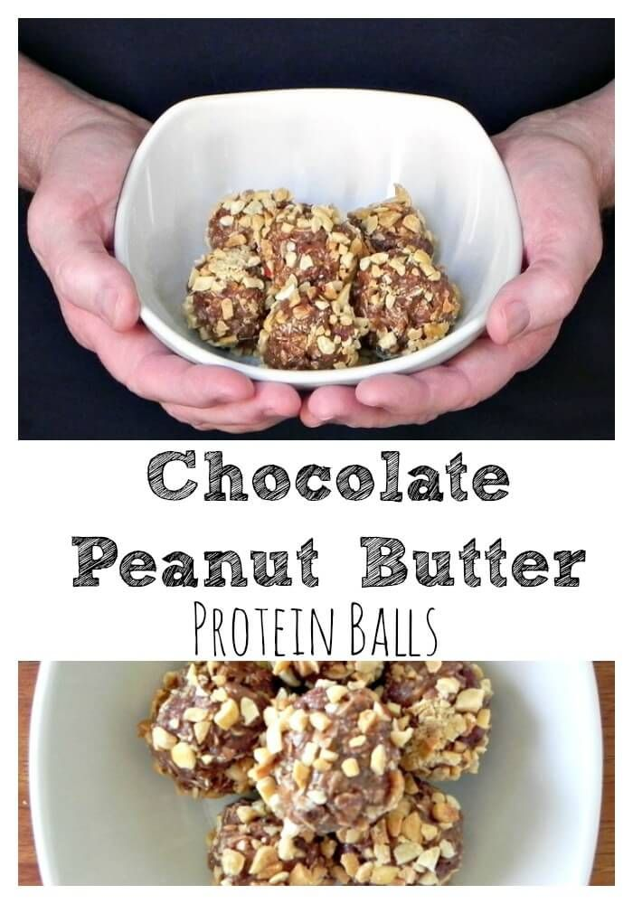Chocolate Peanut Butter Protein Balls - a clean eating treat #Choctoberfest