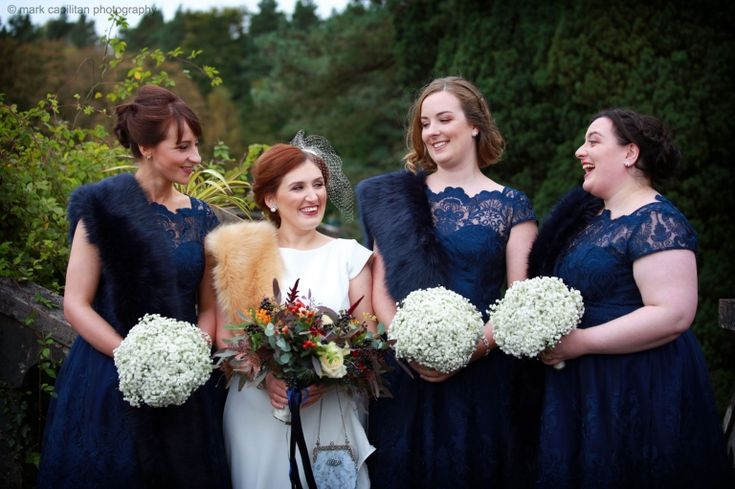 Bridal party photography in Belleek Castle
