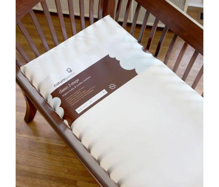 Naturepedic MC32 No Compromise Organic Cotton Classic 150 Seamless 2-Stage Crib Mattress