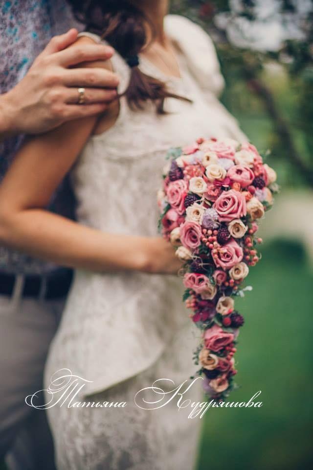 Букет невесты из стабилизированных цветов