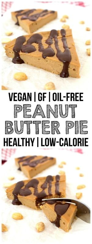 Healthy Peanut Butter Pie! (Vegan, Gluten-Free, Low-Carb, Sugar-Free, Oil-Free, High-Protein!)