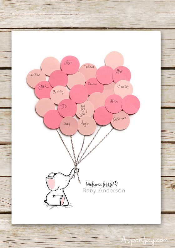 elephant baby shower guest book printable babyparty windelgeschenke und baby geschenke. Black Bedroom Furniture Sets. Home Design Ideas
