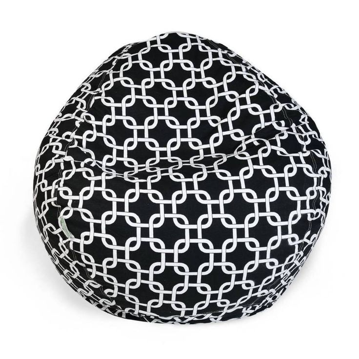 Small Bean Bag Chair Black, White Links with Removable Cover #BeanBagChair