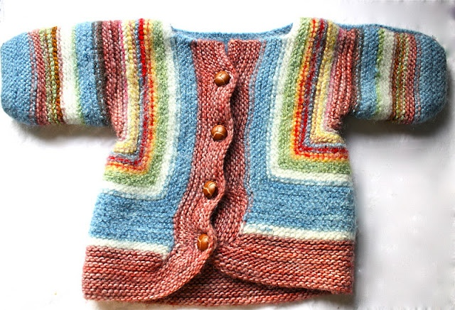 Baby Surprise Sweater, pattern by Elizabeth Zimmerman.