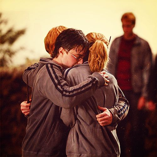 Harry, Ron and Hermione.