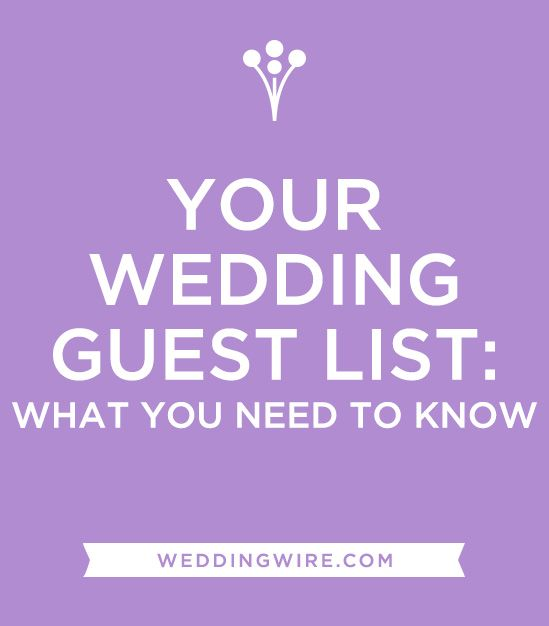 Best  Wedding Guest List Ideas On   Guest List