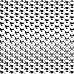 Biological hazard seamless pattern