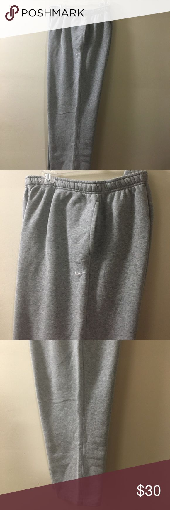 "Niki Big & Tall Activewear Fleece Sweatpants Fit Loose tapered legs. Drawstring flat front elastic waist. Two side slip pockets one back snap pocket. Inseam 33"" Nike Pants Sweatpants & Joggers"