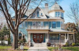 i need this house!!Old House, Victorian House, Dreams Home, Buckets Lists, Victorian Home, Dreams House, Blue House, Dream Houses, Wraps Around Porches