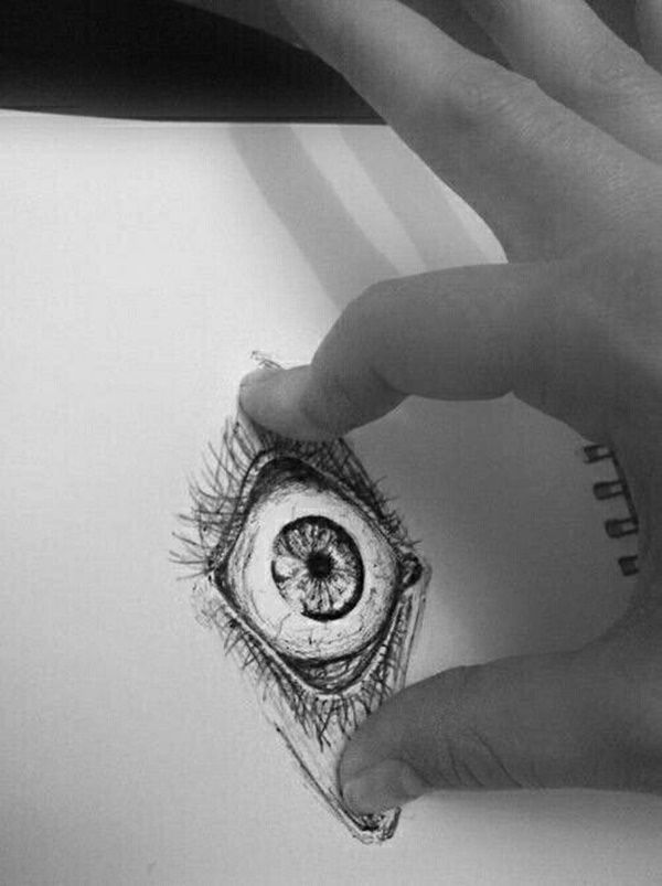 40 Realistic 3d Pencil Sketches And Drawings On Paper Eye