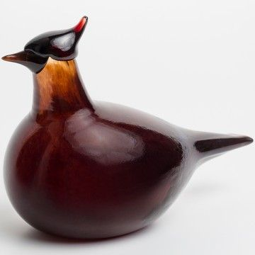 Oiva Toikka, 2016, iittala, Red Blue Jay, one of a kind, blown in Corning Museum of Glass