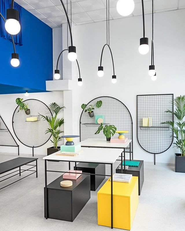 #Masquespacio, known for their delightfully eccentric #interiors and branding, has designed a new lifestyle #shop in #Valencia, #Spain called @gnomoeu. More on designmilk.com #interior #design @masquespacio_ana @masquespacio_chris