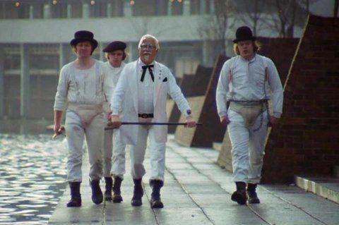 .Film, A Clockwork Orange, Funny Shit, Herbs, Colonel Sander, Costumes Design, Kfc, Orange Chicken, Alex O'Loughlin