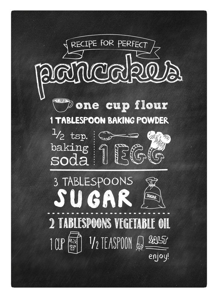 Chalkboard Pancake Recipe - #Printable #poster #chalkboard #Küche #Rezept #Einrichtung #Inspiration