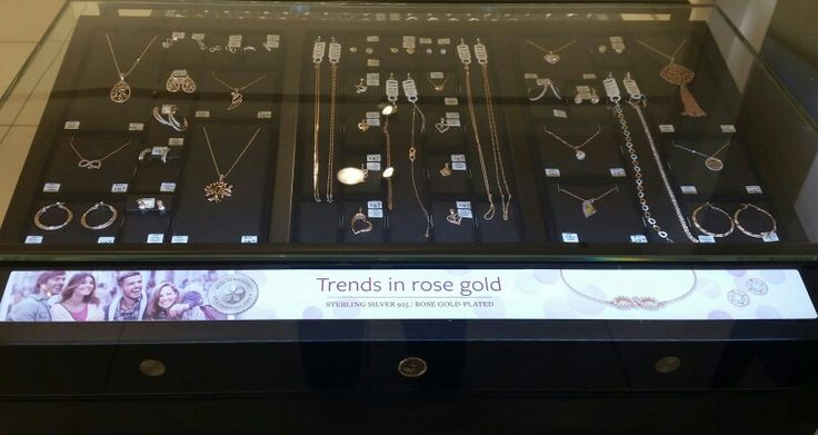Trends in rose gold. Available in select Myer stores.  Sterling silver 925 base with 18ct rose gold plating. #jewellery  #amoraustralia