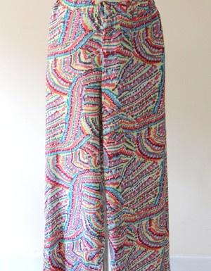 Pantalón ancho multicolor