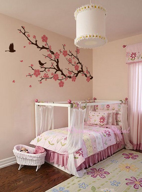 Nursery Wall Decals Cherry Blossom branch wall by DreamKidsDecal