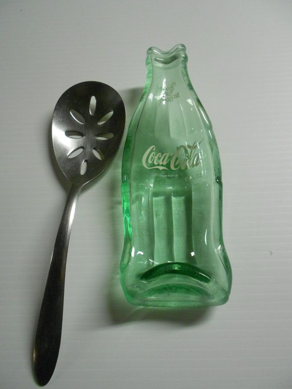 Coca Cola Spoon Rest out of a Melted Bottle by Collectivekayos, $10.00