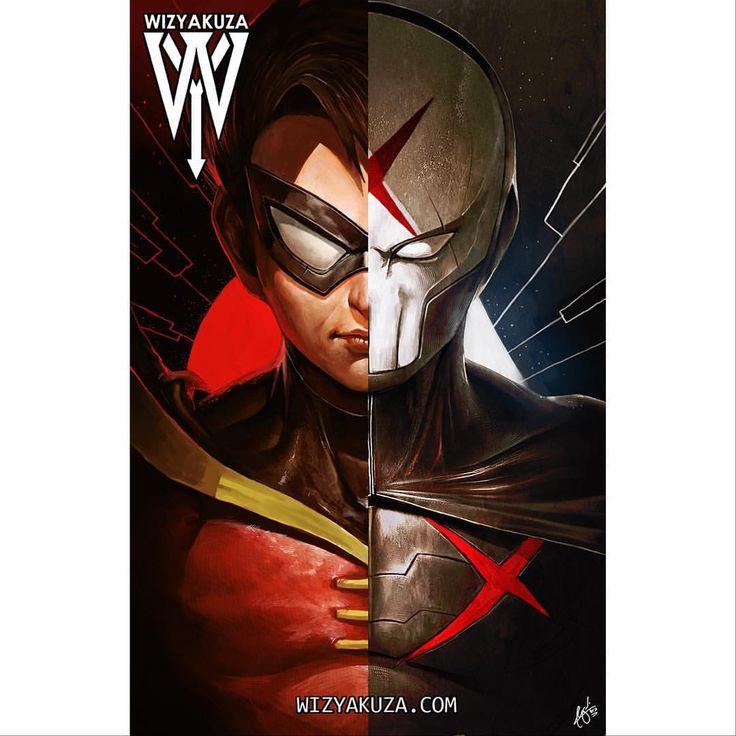 Robin / Red X split from Teen Titans! Who remembers these episodes? #robin #teentitans #dc #dccomics #comics #artwork #artist #wizyakuza