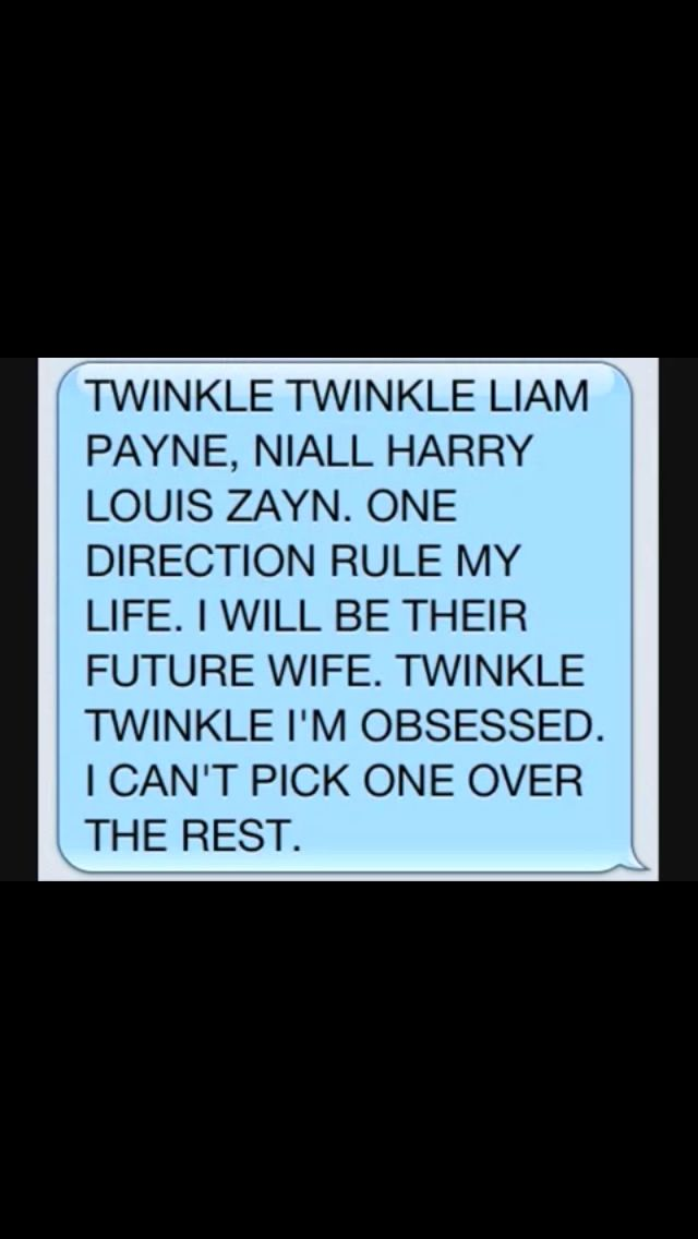 Twinkle twinkle one direction style :)