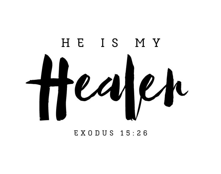 He is my Healer Exodus 15:26 We see the power of His healing in the bible many times. We know we can turn to Him for healing of not only our physical health but also for our spiritual well being. That is the power of the Lord! He is a great and mighty Healer. -Typography theme -Different size options available -Frame not included -High resolution digital file option #heismyhealer