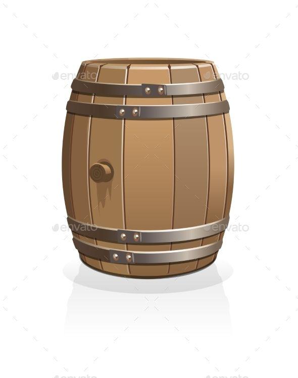 Vector Wooden Barrel Wooden Barrel Barrel Wooden