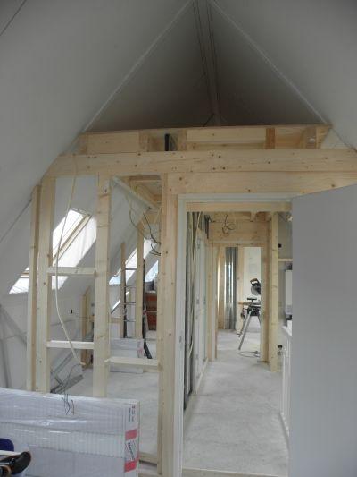 Muur vliering constructie zolder pinterest muur for Tips inrichten nieuwbouwwoning