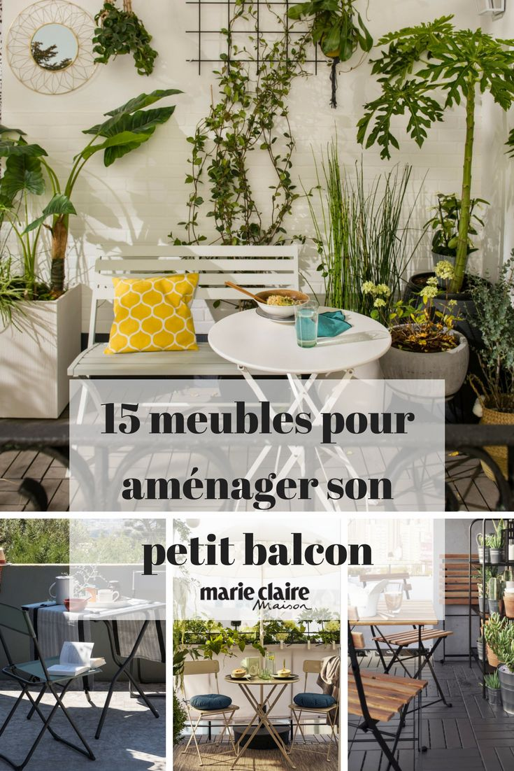 20 meubles chics et pratiques pour le balcon terrasse et balcon terrace and balcony. Black Bedroom Furniture Sets. Home Design Ideas