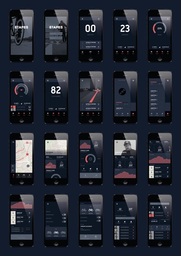 etapes App by Martin Drozdowski, via Behance