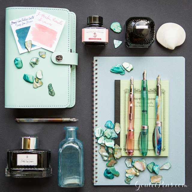 Looking for some unexpected treasures to add to your fountain pen and ink collection? Check out our Sea Glass collection of pens, ink and notebooks. Read this blog to see more!