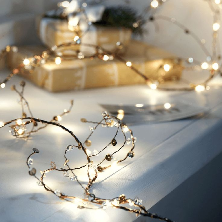 You don't have to go for a plush, green Christmas garland if you don't like the look - these light up jewelled twigs are extra pretty and make for a stunning replacement to the norm!