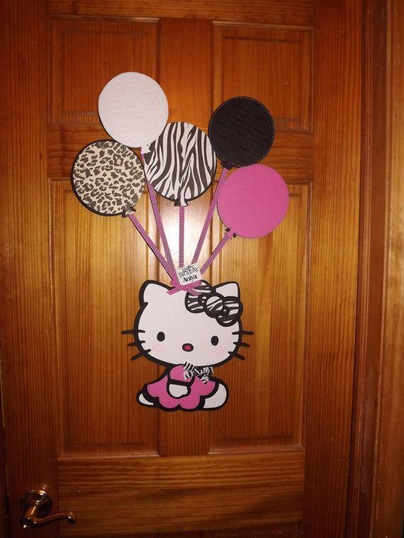 Cartel de fiesta Hello Kitty