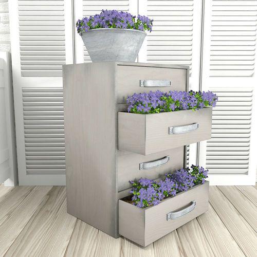 Bellflowers in commode | 3D Model