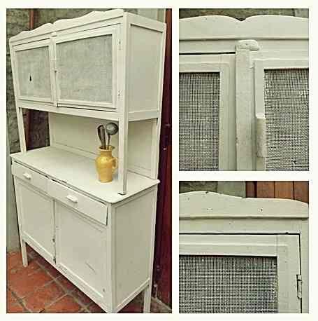 Mueble de cocina alacena aparador antiguo vintage de - Muebles de cocina retro ...