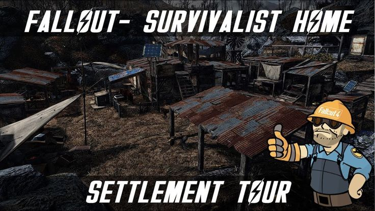 Immersive detailed and lore friendy survivalist home in the wilds! Let me know what you think! Realistic enough? #Fallout4 #gaming #Fallout #Bethesda #games #PS4share #PS4 #FO4