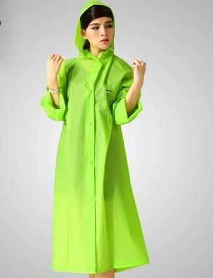 2016 EVA Environment Safety Raincoat With Hood For Men And Women Outdoor Rainwear Waterproof Poncho Over Knee Length Rain Coat