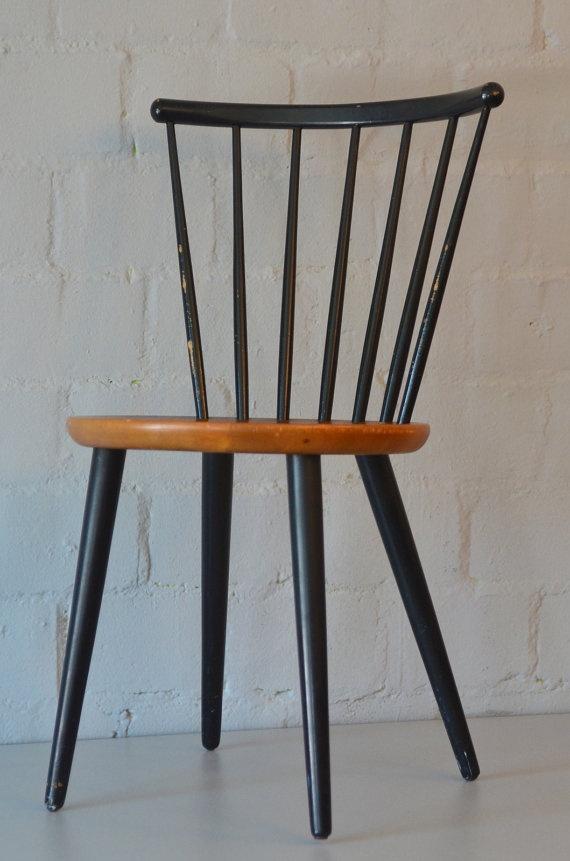 Vintage Swedish Mid Century Chair Paul Mccobb Style