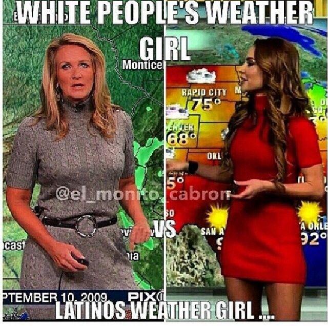 Latina weather girl… Need I say more?